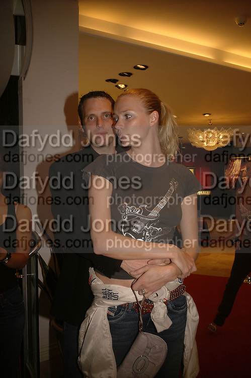 AIDEN BUTLER AND JODIE KIDD, Party to Celebrate opening of New Diesel Store on 130 Bond St.  at store and afterwards at Victoria House, Bllomsbury Sq. 18 May 2006. ONE TIME USE ONLY - DO NOT ARCHIVE  © Copyright Photograph by Dafydd Jones 66 Stockwell Park Rd. London SW9 0DA Tel 020 7733 0108 www.dafjones.com