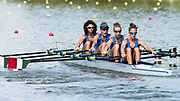 Plovdiv BULGARIA. 2017 FISA. Rowing World U23 Championships. <br /> ITA BLW4X. Bow. <br /> MAREGOTTO, Asja, PIAZZOLLA, Paola, RODINI, Valentina and SCHETTINO, Giovanna.<br /> Wednesday. PM,  Heats 16:30:11  Wednesday  19.07.17   <br /> <br /> [Mandatory Credit. Peter SPURRIER/Intersport Images].