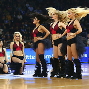 Anadolu Efes's show girls during their Euroleague Top 16 game 8 basketball match Anadolu Efes between CSKA Moscow at the Abdi Ipekci Arena in Istanbul at Turkey on Friday, February, 22, 2013. Photo by TURKPIX