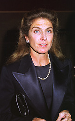 PRINCESS NICHOLAS VON PREUSSEN at a dinner in London on 22nd September 1998.MKE 43