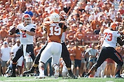 AUSTIN, TX - SEPTEMBER 26:  Mason Rudolph #2 of the Oklahoma State Cowboys drops back to pass against the Texas Longhorns on September 26, 2015 at Darrell K Royal-Texas Memorial Stadium in Austin, Texas.  (Photo by Cooper Neill/Getty Images) *** Local Caption *** Mason Rudolph