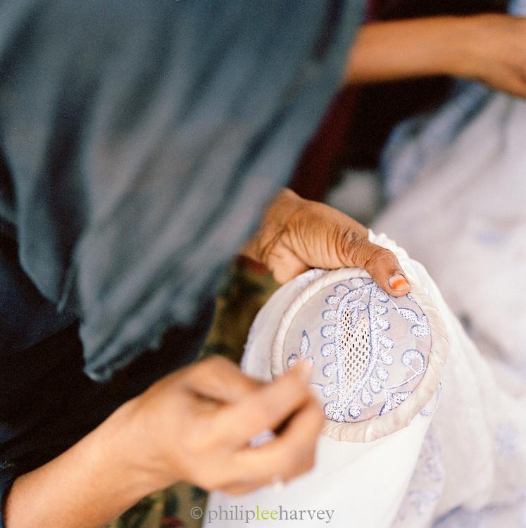 Embroidery detail, Lucknow, Uttar Pradesh, India