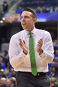 April 4, 2016; Indianapolis, Ind.; Ryan McCarthy cheers on his team in the NCAA Division II Women's Basketball National Championship game at Bankers Life Fieldhouse between UAA and Lubbock Christian. The Seawolves lost to the Lady Chaps 78-73.