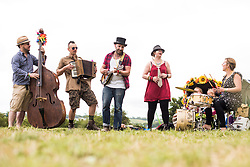 'The Voodoo Tweed Cult of Your Mum' perform in the Stone Circle during the Glastonbury Festival at Worthy Farm in Pilton, Somerset. Picture date: Sunday June 25th, 2017. Photo credit should read: Matt Crossick/ EMPICS Entertainment.