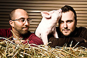 Baconsalt founders Justin Esch and David Lefkow, and friend. David (Bald) Justin (Black Hair) Justin Esch and Dave Lefkow (glasses), founders of Baconsalt, and Baconaise.