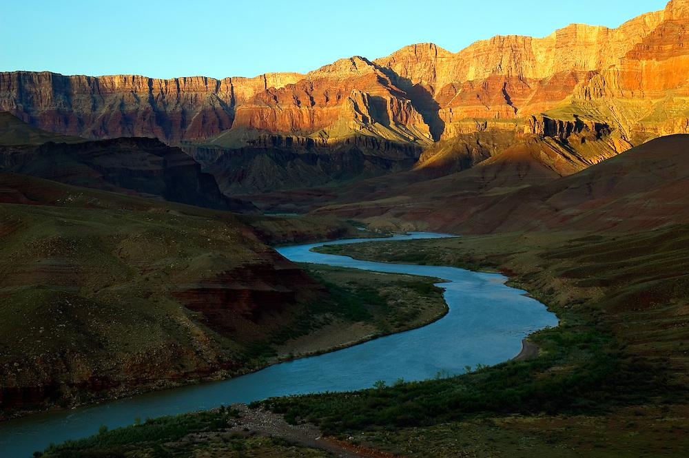 Colorado River flowing through the Grand Canyon, Arizona.