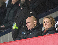 Dundee United's chairman Stevie Thomson in the stand during the second half. <br /> Dundee 2 v 1  Dundee United, SPFL Ladbrokes Premiership game played 2/1/2016 at Dens Park.
