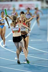 01-08-2010 ATLETIEK: EUROPEAN ATHLETICS CHAMPIONSHIPS: BARCELONA<br /> Germany (GER) - Silver Medal 4x400m Relay Women Final / HOFFMANN, Claudia GER<br /> ©2010-WWW.FOTOHOOGENDOORN.NL