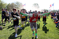 ©Licensed to London News Pictures. 13/05/2012.Boughton House, Northants. 5000 Tough Mudders over the weekend start 12 mile endurance challenge..Photo credit: Steven Prouse/ LNP