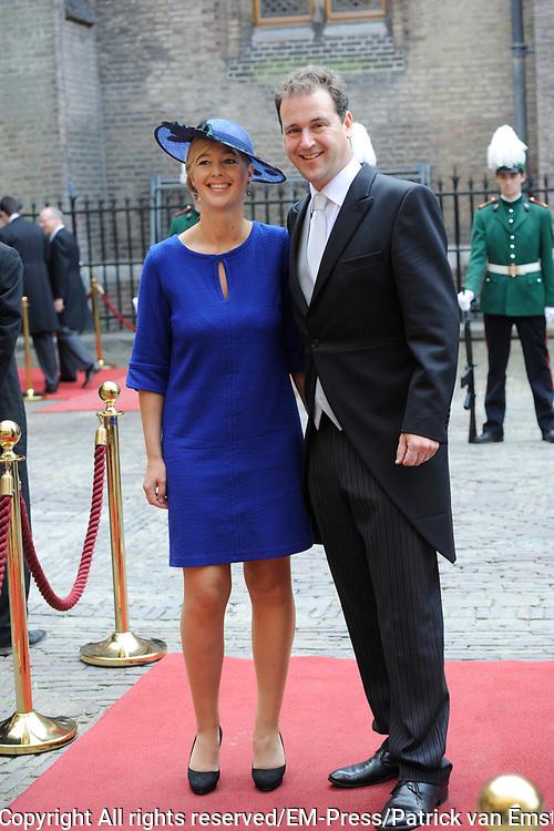 Prinsjesdag 2014 - Aankomst Politici op het Binnenhof.<br /> <br /> Op de foto:  Lodewijk Asscher - Minister van Sociale Zaken en Werkgelegenheid
