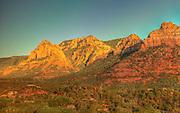 Sedona, USA, Arizona. Moody Red mountain formations.