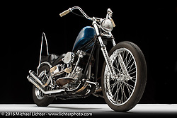 """Marty """"Roadside"""" Davis' 1946 knucklehead. Photographed by Michael Lichter in Sturgis, SD on July 31, 2016. ©2016 Michael Lichter."""