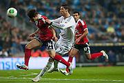 Cristiano Ronaldo fights for the ball