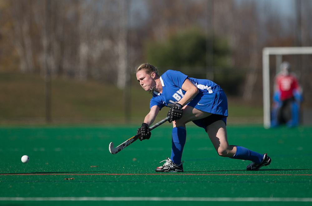 Elizabeth Zusi, of Colby College, during a NCAA Division III field hockey game on October 25, 2014 in Waterville, ME. (Dustin Satloff/Colby College Athletics)
