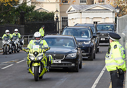 © Licensed to London News Pictures. 03/12/2019. London, UK. Officials are seen being driven out of Winfield House in Regents Park, London, where President Donald Trump is staying during the NATO leaders summit. Worlds leaders are due to attend a series of events over a two day NATO summit which will mark the 70th anniversary of the alliance of nations. Photo credit: Ben Cawthra/LNP