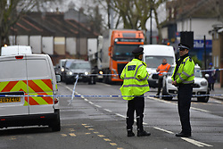 © Licensed to London News Pictures. 19/03/2020.  London UK: Met Detectives launch a murder investigation after a female in her twenties was found in Altmore avenue, East Ham, east London with fatal stab injuries. Emergency services were called at around 12.45am  this morning but the victim was pronounced dead in hospital    , Photo credit: Steve Poston/LNP