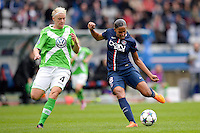 Marie Laure Delie / Nilla Fischer - 26.04.2015 - Paris Saint Germain / Wolfsbourg - 1/2Finale Champions League feminine<br />Photo : Andre Ferreira / Icon Sport