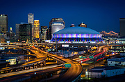 This is the Mercedes-Benz Superdome in New Orleans on February 2, 2013.<br /> © Kathy Anderson Photography,  All Rights Reserved