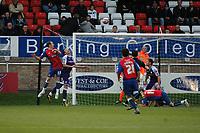 Photo: Tony Oudot/Richard Lane Photography. Dagenham & Redbridge v Rochdale. Coca-Cola Football League Two. 21/11/2009. <br /> Peter Gain of Dagenham (33) scores the first goal