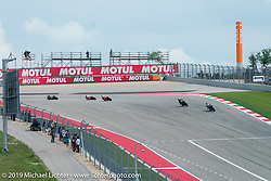 MotoGP at Circuit of the Americas on Sunday during the Handbuilt Motorcycle Show weekend. Austin, TX. April 12, 2015.  Photography ©2015 Michael Lichter.