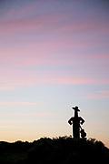 Silhouette of Tio Pepe symbol in Jerez de la Frontera, Spain