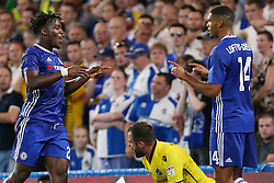 23 August 2016 - EFL Cup - Chelsea v Bristol Rovers<br /> Michy Batshuayi celebrates scoring a goal for Chelsea with Ruben Loftus-Cheek<br /> Photo: Charlotte Wilson