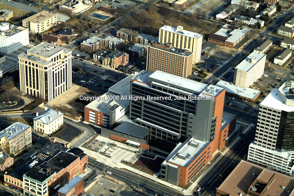 Aerial views of the New Castle County Courthouse, Wilmington, Delaware