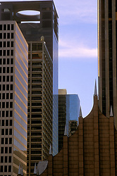 Stock photo of a group of skyscrapers in downtown Houston, Texas