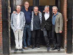 Image ©Licensed to i-Images Picture Agency. 30/06/2014. London, United Kingdom.The surviving members of Monty Python together the day before they start their tour at the O2 Arena starting tomorrow. Pic Shows (L-R) Eric Idle, John Cleese,Terry Gilliam, Michael Palin and Terry Jones. Picture by i-Images