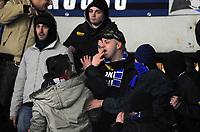 """Interista ferito da sedia volante<br /> Torino, 13/02/2011 Stadio """"Olimpico""""<br /> Juventus-Inter<br /> Campionato Italiano Serie A 2010/2011<br /> Foto Nicolo' Zangirolami Insidefoto"""