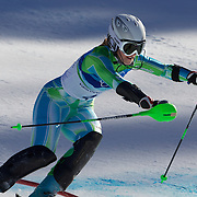 Winter Olympics, Vancouver, 2010.Tina Maze,  Slovenia, in action in the Alpine Skiing Ladies Super Combined competition at Whistler Creekside, Whistler, during the Vancouver Winter Olympics. 18th February 2010. Photo Tim Clayton