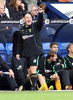 Photo: Mark Stephenson.<br /> West Bromwich Albion v Norwich City. Coca Cola Championship. 27/10/2007.Norwich's caretaker manager Jim Duffy shouts his orders