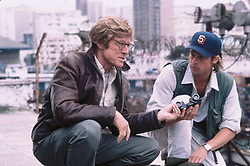 2001; Spy Game. Original Film Title: Spy Game, PICTURED: ROBERT REDFORD, BRAD PITT, Composer: Harry Gregson Williams, Director: Tony Scott, IN CAST: Robert Redford, Brad Pitt, Catherine Mccormack, Stephen Dillane, Larry Bryggman, Marianne Jean-Baptiste  (Credit Image: © UNIVERSAL STUDIOS/Entertainment Pictures/ZUMAPRESS.com)