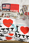 stacks of I Love NY T-shirts