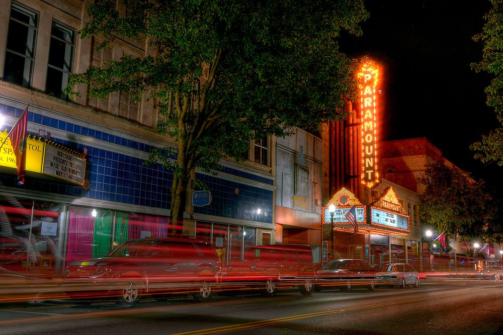The Paramount Theater on State Street in Downtown Bristol, TN on Saturday, April 28, 2012. Copyright 2012 Jason Barnette