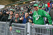 Saint-Etienne fans before the Europa League match between Saint-Etienne and Manchester United at Stade Geoffroy Guichard, Saint-Etienne, France on 22 February 2017. Photo by Phil Duncan.