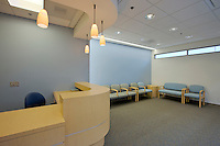 Reception Area Interior Image at MRI Facility of Kaiser Permanente by Maryland Interior Design Photographer Jeffrey Sauers