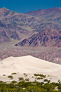 Sand Dunes at Stovepipe Wells and the Grapevine Mountains of the Amargosa Range in Death Valley National Park, CA, USA