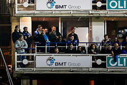Bristol Rugby Director of Rugby Andy Robinson and several members of the squad watch the match from a box - Mandatory byline: Rogan Thomson/JMP - 28/12/2015 - RUGBY UNION - The Recreation Ground - Bath, England - Bath United v Bristol United - Aviva A League.