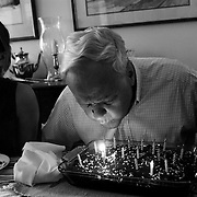 """Bob blows out candles as he and his family celebrate his 82th birthday.                            ..ltqmb   """"birthday blow"""""""
