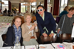 Left to right, CHRISSIE REID, TWINKS KER and SELINA BLOW at a ladies lunch in aid of the charity Maggie's held at Le Cafe Anglais, 8 Porchester Gardens, London on 29th April 2014.