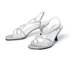 silver womans heels