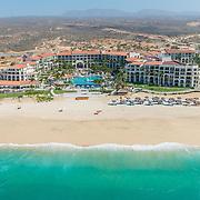 Aerial view of the Dreams Los Cabos hotel. Los Cabos, Mexico.