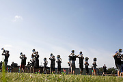 The Oregon Marching Band performs in Sandwich, Illinois on July 7, 2008.