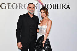 Cheryl Cole and Georges Hobeika pose backstage after the Georges Hobeika Haute Couture Fall/Winter 2019 2020 show as part of Paris Fashion Week on July 01, 2019 in Paris, France. Photo by Laurent Zabulon / ABACAPRESS.COM
