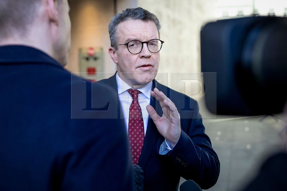 © Licensed to London News Pictures. 24/02/2019. London, UK. Deputy Leader of the Labour Party Tom Watson MP (centre) leaves BBC Broadcasting House after appearing on The Andrew Marr Show. Photo credit: Rob Pinney/LNP