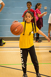 Sport Inspired Festival, Tottenham, North London. More than 400 pupils from nine primary schools took part in the games at Tottenham Green Pools & Fitness as part of the council's regeneration programme and commitment to helping to create a healthier Haringey. UK 2015