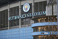 General view outside the Etihad Stadium during the Premier League match between Manchester City and Burnley at the Etihad Stadium, Manchester, England on 28 November 2020.