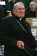 Catholic Cardinal John Joseph O'Connor, Archbishop of New York attends a pro-life rally September 12, 1996 in Washington, DC.
