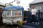Hackney and Newham Travellers sites in Waterden Crescent and Clays Lane in 2006. Romany Gypsies and Irish Travellers were forced off established Traveller sites for 'two weeks of sport' - the 2012 London Olympics -